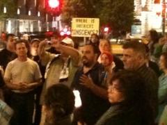 Hatem Abudayyeh, speaking in support of Palestinian hunger strike